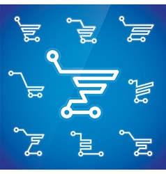 Shopping cart symbols vector