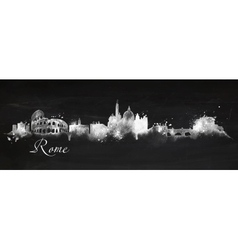 Silhouette chalk Rome vector image vector image
