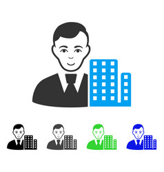 smiling city architect icon vector image