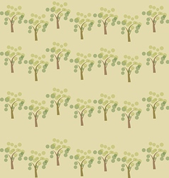 Spring trees seamless pattern background vector image vector image