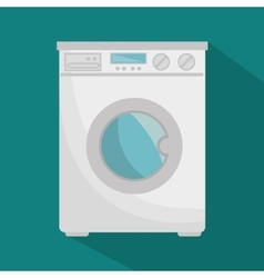 Wash machine appliance isolated icon vector