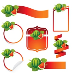 Watermelon Label Set vector image