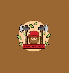 Woodcutter vector