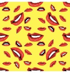 Lips Seamless pattern vector image