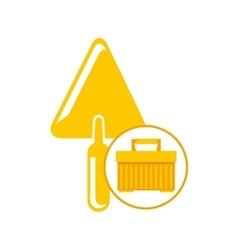 Portable tool box trowel icon vector
