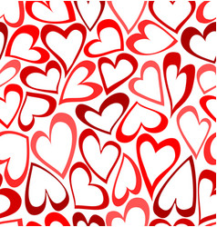 Seamless pattern with doodled hearts vector