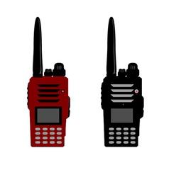 Walkie talkie or police radio and radio communicat vector image