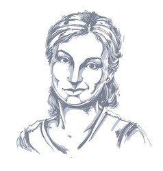 Hand-drawn of beautiful skeptic vector