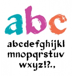 Paintbrush alphabet vector