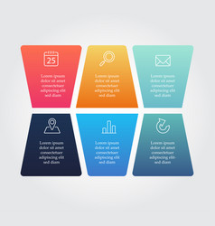 Abstract business infographics options template vector