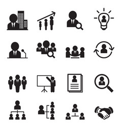 Human resource management icon set vector