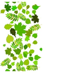 Seamless abstract background with green leaflets vector image