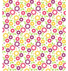 Bright abstract seamless pattern with flowers vector