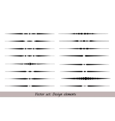 Text dividers set vector