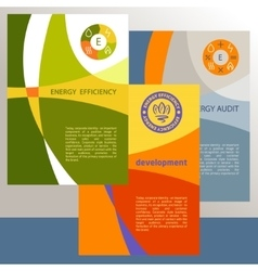 Logo energy efficiency diagram of growth vector
