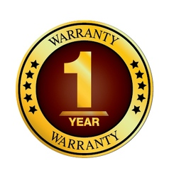 One year warranty design isolated on white vector