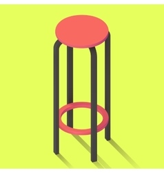 Bar chair isolated perspective view vector