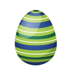 Color easter egg cartoon spring decoration and vector