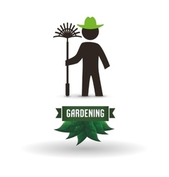 Worker design gardening icon white background vector