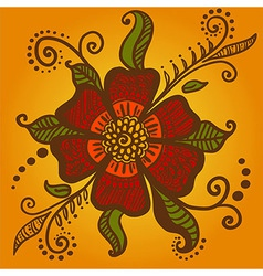 Abstract flower for henna mehndi tattoo vector