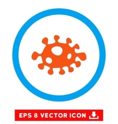 Bacteria eps rounded icon vector