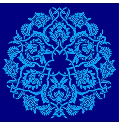 Blue artistic ottoman pattern series fifty five vector