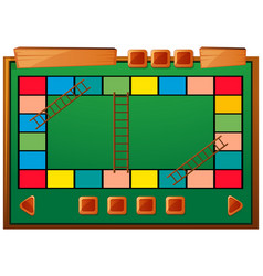 Boardgame template with ladders and blocks vector