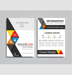 brochure layout with place for your data vector image vector image