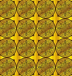Circles gold pattern background vector