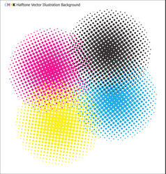 Cmyk halftone background vector