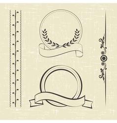 contour decorations vector image