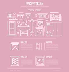 Efficiency hallway space design poster vector