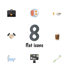 Flat icon life set of bureau partnership vector