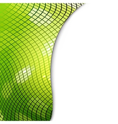Green Mosaic Eco Background vector image