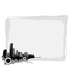 Grey board with place for your own text and with vector image