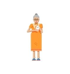 isolated of European retiree elderly vector image vector image
