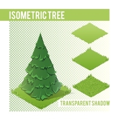 Isometric Tree 003 vector image
