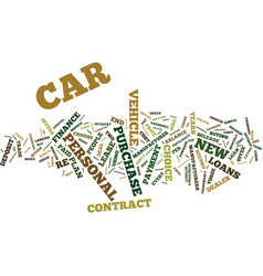 Loans new cars for old text background word cloud vector