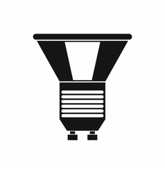 Luminodiode icon in simple style vector