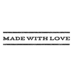 Made with love watermark stamp vector