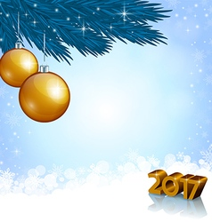 New 2017 year numbers and christmas decoration vector