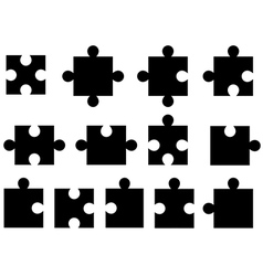 Puzzle pieces vector