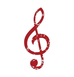 Red grunge music logo vector