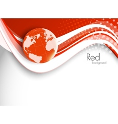 Red tech background vector image vector image