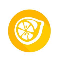 Round icon of fresh lemon vector