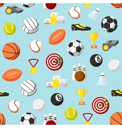 Seamless sports pattern background vector