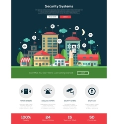 Security systems website header banner with vector image vector image