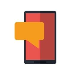smartphone sms talking bubble speak vector image vector image