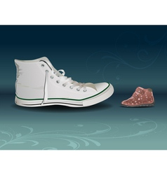 sneaker vs shoe vector image