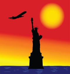 Statue of liberty in new york color vector
